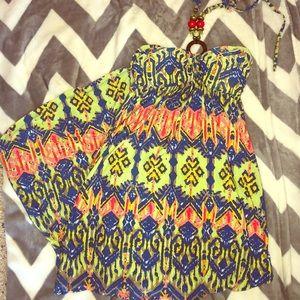 High-low halter maxi dress